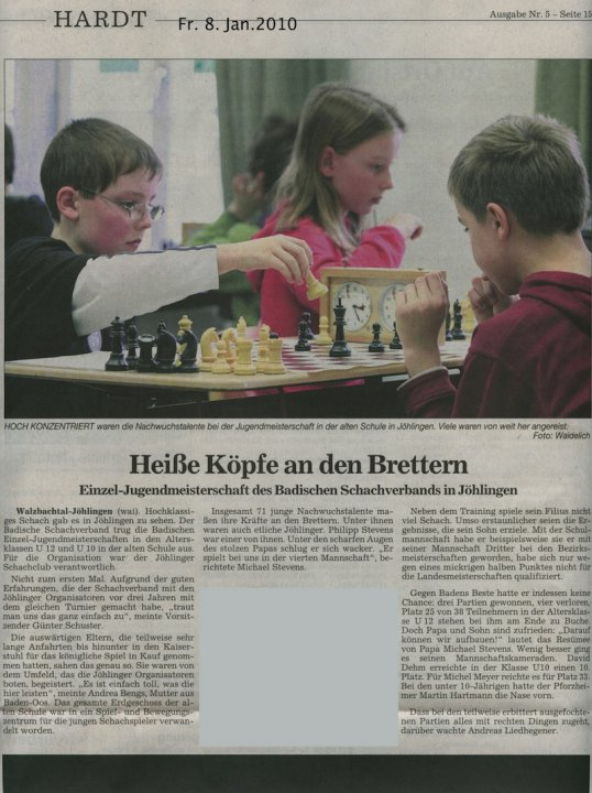 Bericht BNN zur BJEM 2010 in Jöhlingen
