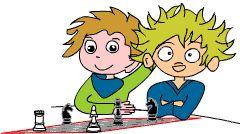 Schach-AG gemeinsam mit Hort