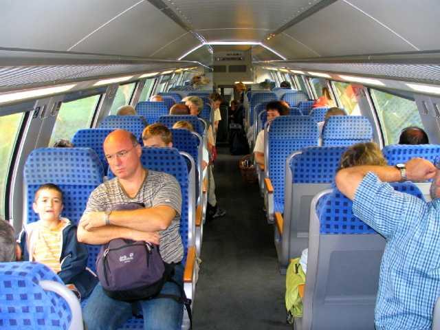 Auf der Zugfahrt nach Heidelberg