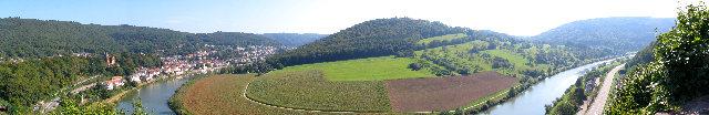 Panorama Bild von Neckarsteinach
